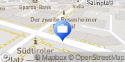 Karte Volksbank Raiffeisenbank Rosenheim-Chiemsee eG, Rosenheim, Bahnhofstraße Rosenheim, Deutschland