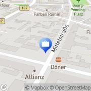 Karte ALBRECHT UWE MECKLENBURGISCHE VERSICHERUNG und ANTIQUITÄTEN Rathenow, Deutschland