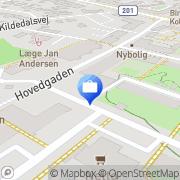 Kort Danske Bank Birkerød, Danmark