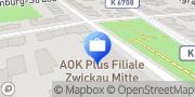 Karte AOK PLUS - Filiale Zwickau Mitte Zwickau, Deutschland