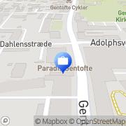 Kort Christiani Christian Gentofte, Danmark