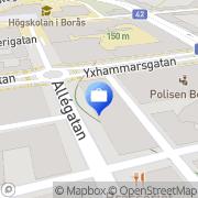 Karta Försäkringsbyrån Damberg & Partners AB Borås, Sverige