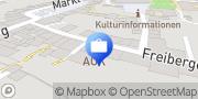 Karte AOK PLUS - Filiale Frankenberg Frankenberg/Sa., Deutschland