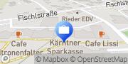 Karte Kärntner Sparkasse AG - SB Standort Klagenfurt, Österreich