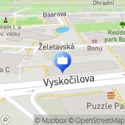Map MONETA Money Bank Prague, Czech Republic