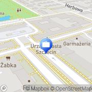 Mapa Bank Zachodni WBK S.A. 9 Oddział Szczecin, Polska