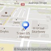 Mapa Bank Zachodni WBK S.A. 8 Oddział w Szczecinie Szczecin, Polska