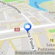 Mapa PKO Bank Polski. Bankomat Dębno, Polska