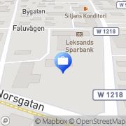 Karta Leksands Sparbank Leksand, Sverige