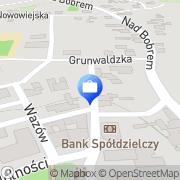 Mapa Bank Spółdzielczy w Żaganiu. Oddział Filia Nowogród Bobrzański, Polska