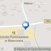 Mapa Bank Spółdzielczy. Punkt kasowy Wawrów, Polska