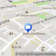 Mapa MultiBank. Bankomat Zielona Góra, Polska