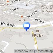 Mapa PKO Bank Polski. Oddział 1 Jelenia Góra, Polska