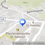 Karte Raiffeisenbank NÖ-Süd Alpin eGen - Bankstelle Grafenbach Sankt Valentin, Österreich
