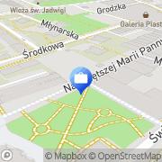 Mapa Bank Zachodni WBK S.A. Bankomat Legnica, Polska