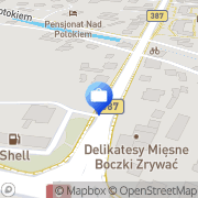 Map Bank Zachodni WBK. Bankomat Malá Čermná, Czech Republic