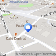 Karte Oesterreichische Kontrollbank AG (OeKB) Wien, Österreich
