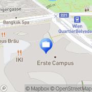 Karte Erste Group Bank AG Wien, Österreich