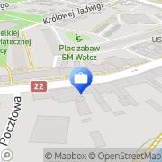Mapa PKO Bank Polski. Bankomat Wałcz, Polska
