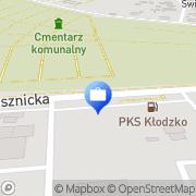 Mapa Bank Zachodni WBK. Bankomat Kłodzko, Polska
