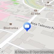 Mapa Bank Zachodni WBK. Bankomat Kościan, Polska