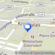 Karte UNIQA Versicherungen AG Service Center Zistersdorf, Österreich