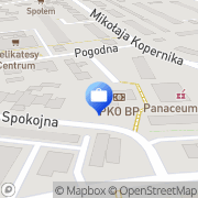 Mapa PKO Bank Polski. Oddział 1 Ustka, Polska