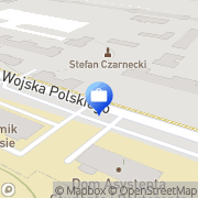 Mapa PKO Bank Polski. Bankomat Poznań, Polska