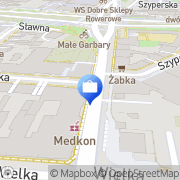 Mapa MultiBank. Bankomat Poznań, Polska