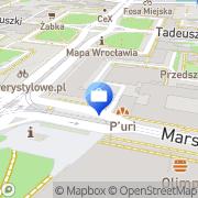 Mapa Bank Zachodni WBK. Bankomat Wrocław, Polska