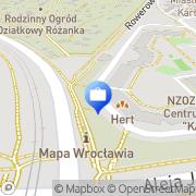 Mapa Bank Zachodni WBK S.A. Bankomat Wrocław, Polska