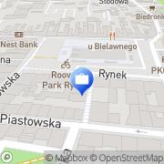 Mapa Bank Zachodni WBK. Bankomat Krotoszyn, Polska