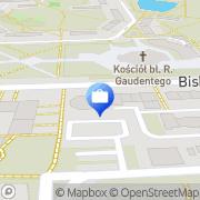 Mapa Bank Spółdzielczy. Punkt kasowy Gniezno, Polska