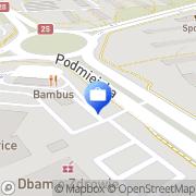 Mapa Bank Zachodni WBK. Bankomat Kalisz, Polska