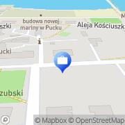 Mapa Bank Spółdzielczy. Punkt kasowy Puck, Polska