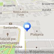 Mapa Bank Zachodni WBK SA. 1 Oddział Turek, Polska