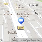 Mapa PKO Bank Polski. Bankomat Gdynia, Polska