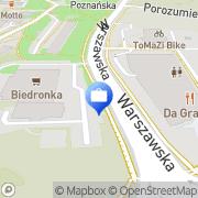 Mapa Bank Spółdzielczy. Punkt kasowy Jastrzębie-Zdrój, Polska