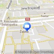 Mapa Bank Zachodni WBK SA. Oddział Toruń, Polska