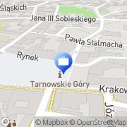 Mapa Multibank. Oddział bankowości detalicznej BRE Bank Tarnowskie Góry, Polska
