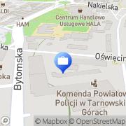 Mapa Bank Zachodni WBK SA. 1 Oddział Tarnowskie Góry, Polska
