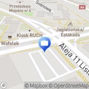 Mapa PKO Bank Polski. Oddział 7 Częstochowa, Polska