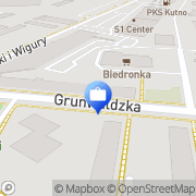 Mapa Bank Zachodni WBK S.A. Oddział Kutno, Polska