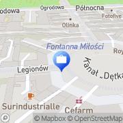 Mapa Bank Zachodni WBK. Bankomat Łódź, Polska