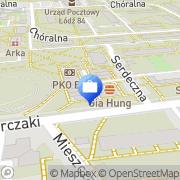 Mapa PKO Bank Polski. Bankomat Łódź, Polska