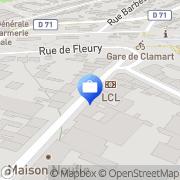 Carte de LCL - Le Crédit Lyonnais Clamart, France
