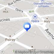 Carte de COMMERZBANK AG Paris, France