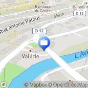 Carte de Groupama d'Oc Rodez, France
