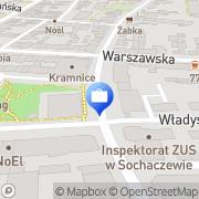 Mapa PKO Bank Polski. Bankomat Sochaczew, Polska