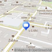 Mapa Noble Bank S.A. Centrum kredytów hipotecznych  Kielce, Polska